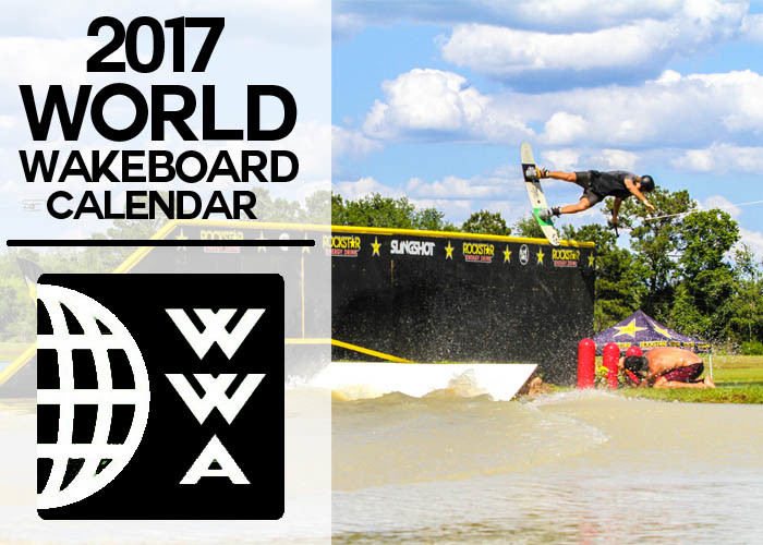 World wakeboard Calendar 2017